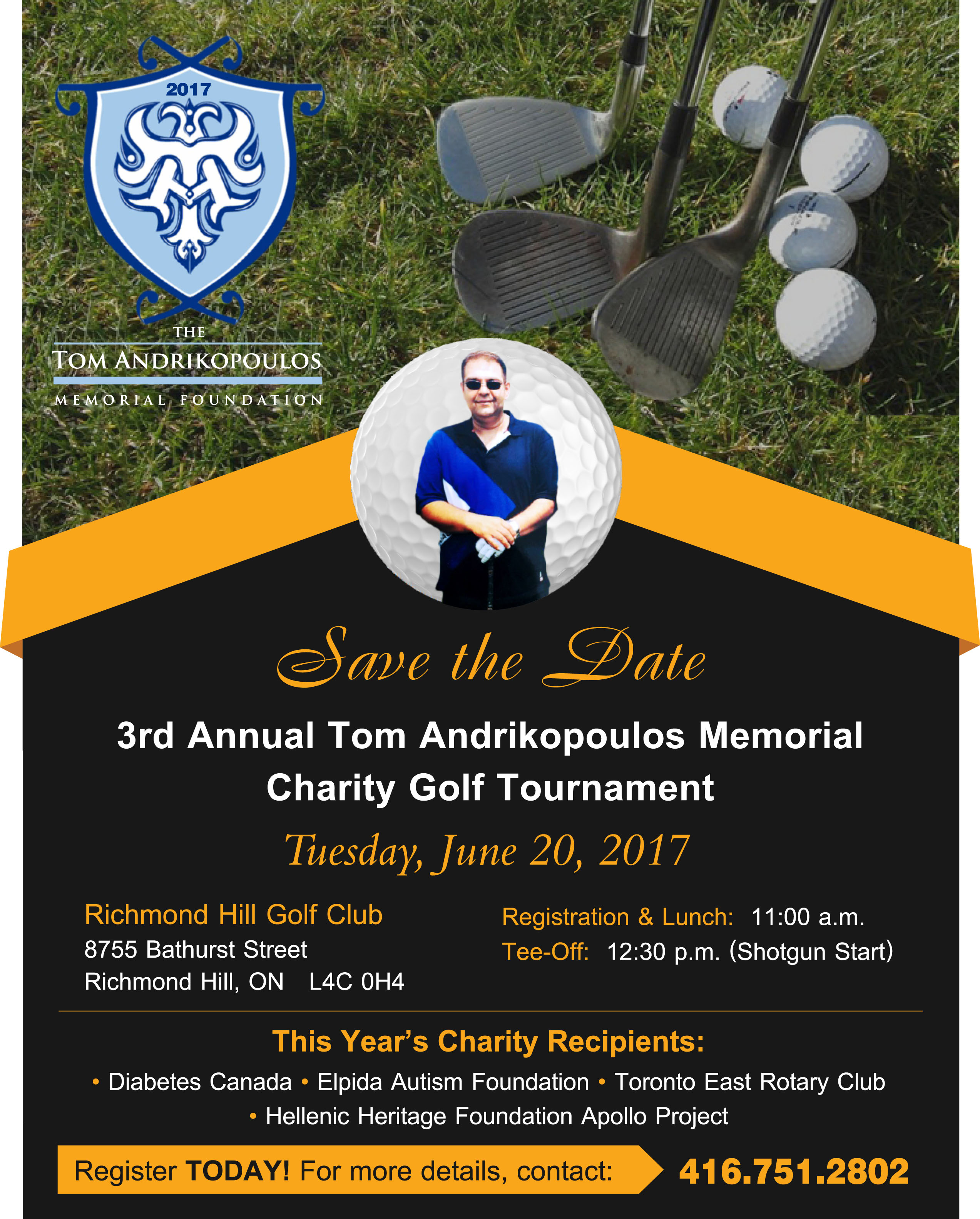 Tom Andrikopoulos 3rd Annual Memorial Charity Golf Tournament