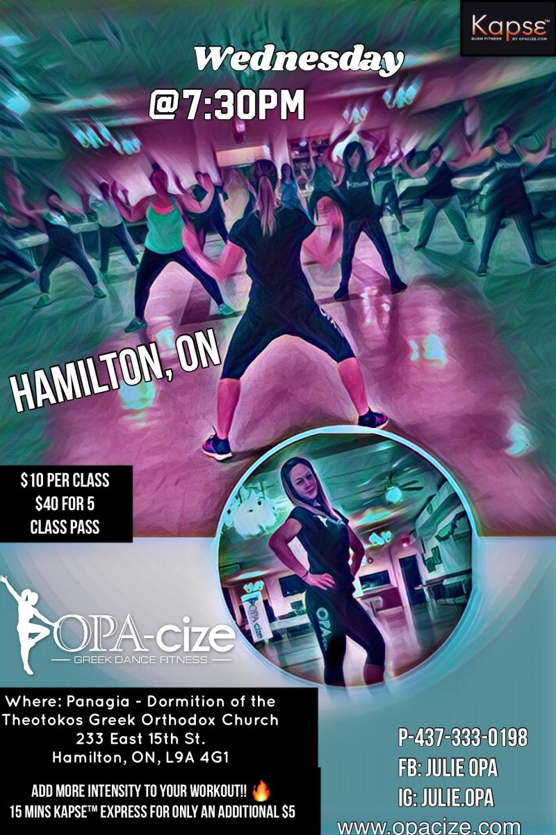 OPACIZE®️ + KAPSE express in Hamilton, ON - Wednesday Nights @7:30pm